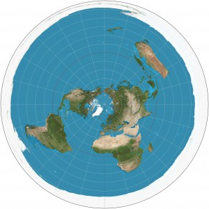 Azimuthal equidistant projection SW