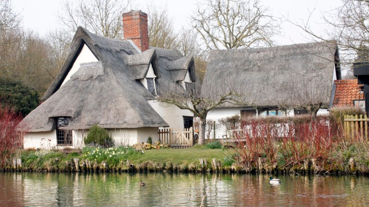 View of Bridge Cottage from the river Stour