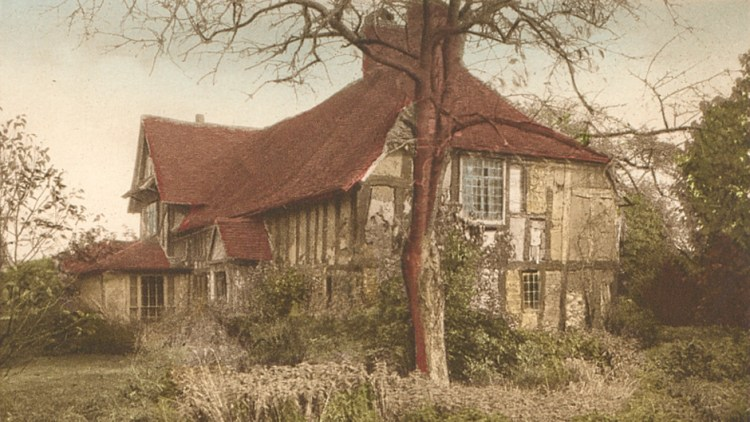 1930s coloured postcard of Valley Farm