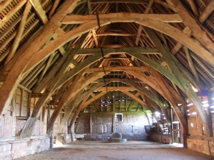 photo of cruck trusses