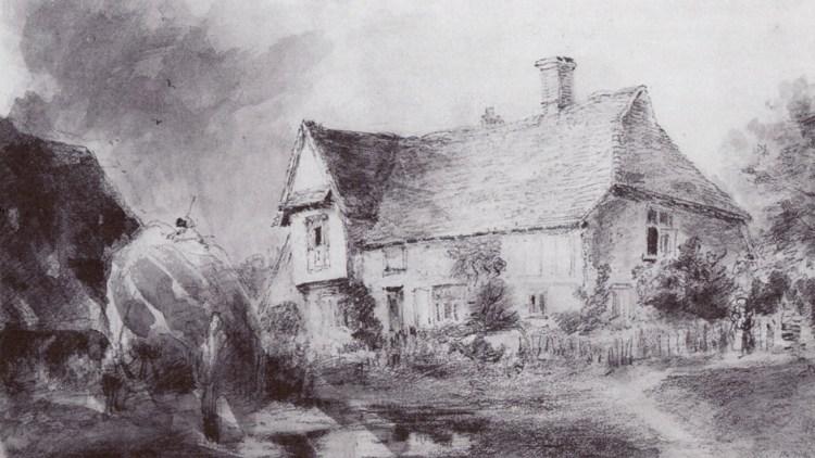 Sketch of Valley Farm by John Constable, 1827