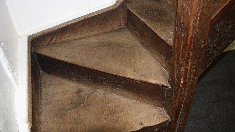 photo of winding staircase inside Willy Lott's House