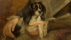 Detail showing Ann Constable's dog by John Constable 1800-1805