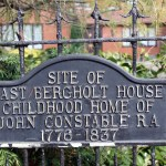 Photo of the sign outside the land where John Constable's family home once stood