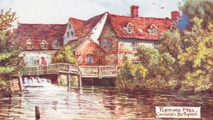 Postcard showing rear of Flatford Mill - 1906 by Jotter
