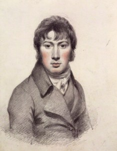 Self portrait by John Constable, pencil and black chalk heightened with white and red chalk, circa 1799-1804