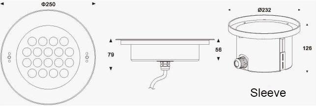 IP68 LED Underwater Lights For Pools With RGBW 4 in1 Or
