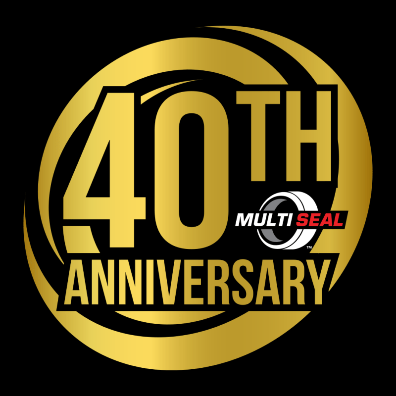 gold and black 40th Anniversary of Multiseal logo