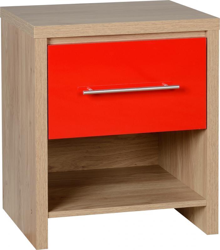 Seville Bedside Table Red Bedside Tables