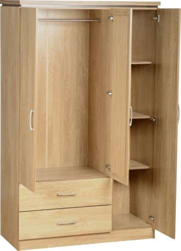 Charles Bedroom Furniture  Charles 3 Door Wardrobe