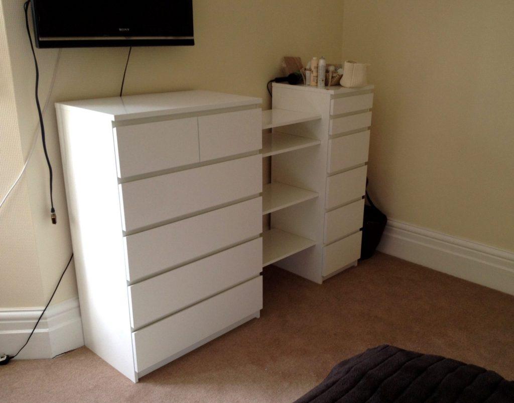 Ikea Malm Drawers Amp Besta Shelf Hack Flat Pack Dan