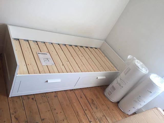 IKEA Brimnes Day Bed Assembly Flat Pack Dan
