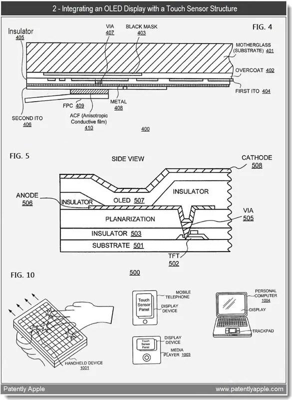 Apple files three OLED patents