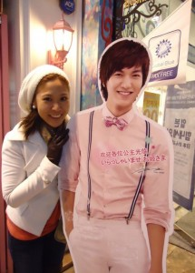 Back when he was still a cardboard during my first trip to Seoul