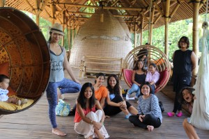 The Flow Tribe at Bambu Indah, Ubud with baby Maya in tow :)