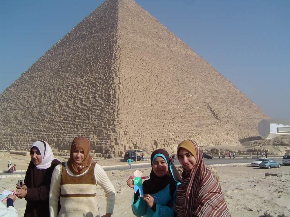 medium resolution of at the pyramids in egypt