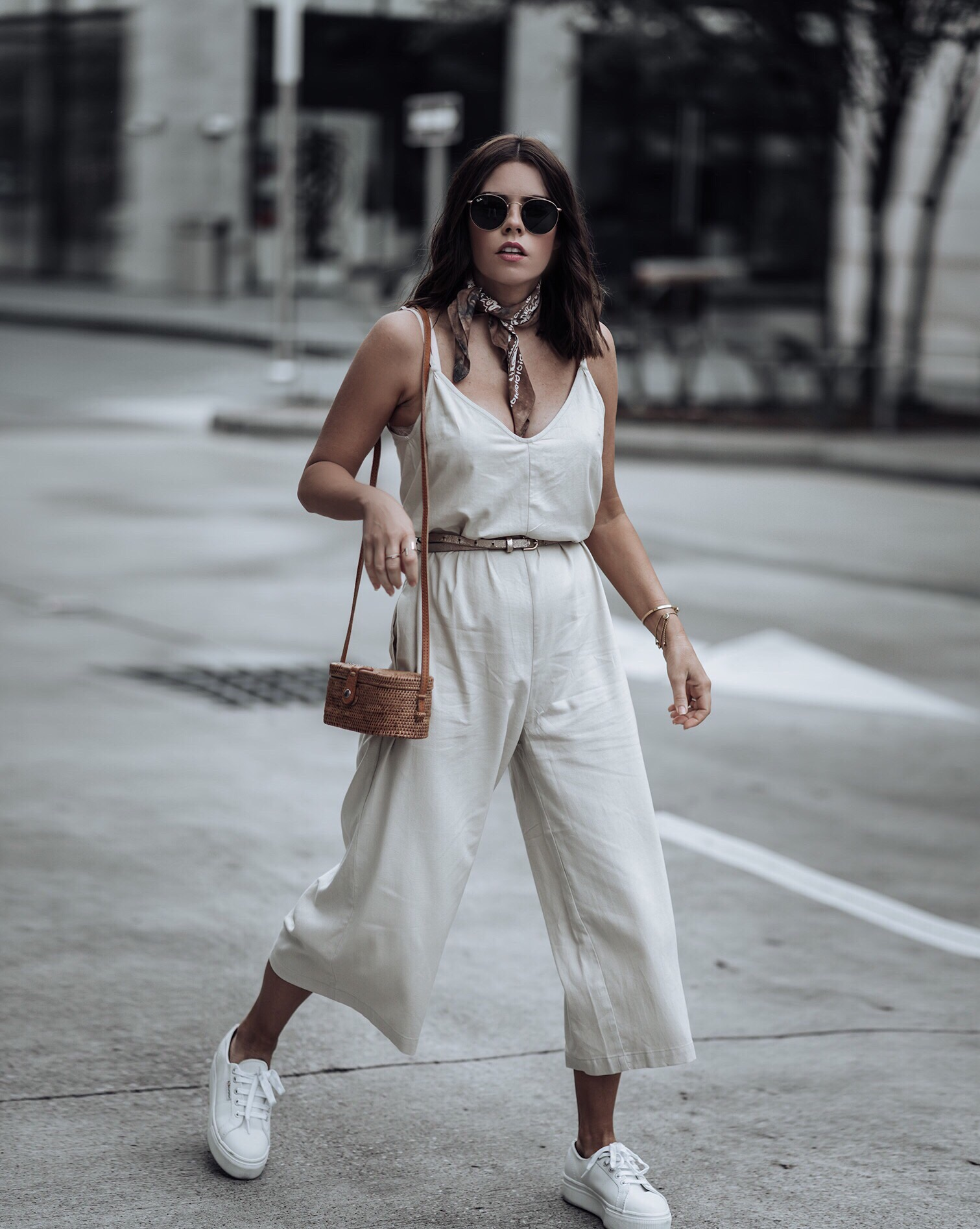 Friday feels | Jumpsuit #urbanoutfitters #streetstyle #sneakeroutfits #liketkit