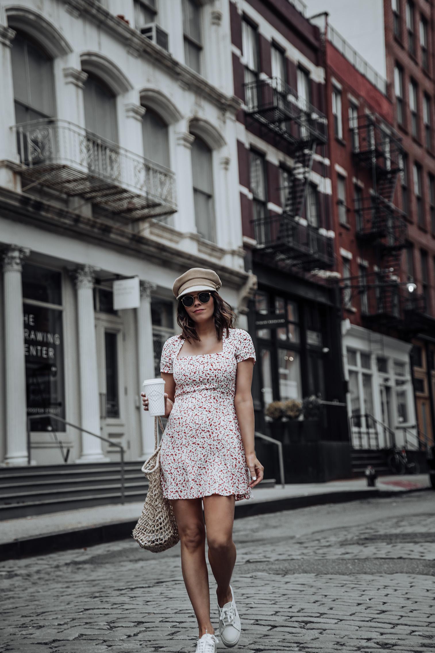 Flynn Skye Mini Dress | Superga Platform Sneakers | Knit Market Bag (Similar) |#liketkit