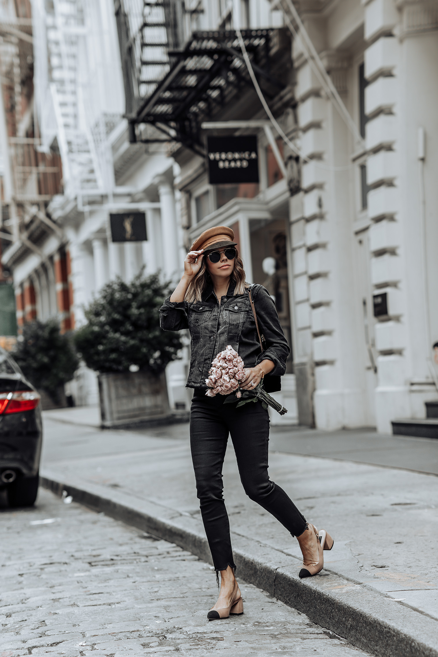 Denim on Denim | Click to shop the look:Abercrombie Denim Jacket | High Rise Ankle Jeans | NYC blog #nycblogger #ootd #liketkit