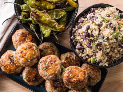 Turkey Meatball Meal Prep with Quinoa