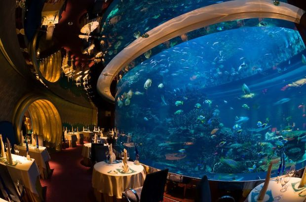 Al Mahara Restaurant in the Burj al Arab Hotel, Dubai, United Arab Emirates