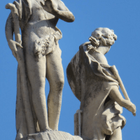 Rome - Statues on buildings