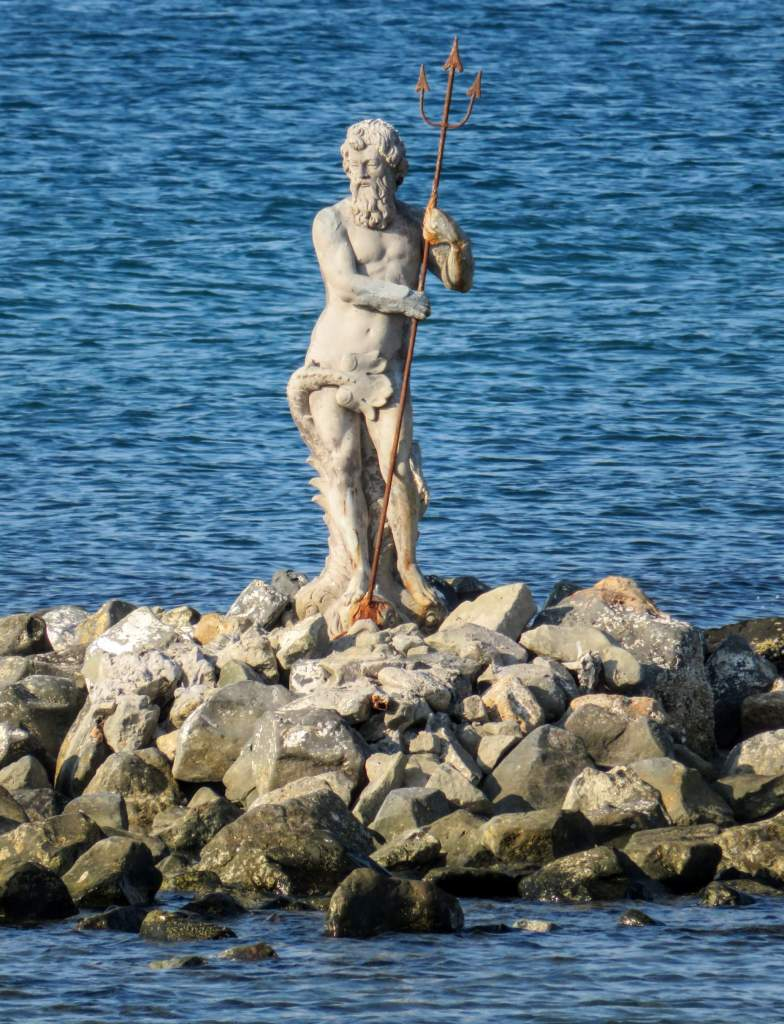 Neptune Statue in Ostia during a peaceable day