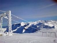 Frozen Ski-Lift on top of the Mountain