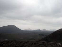 Volcanic Landscape at Timanfaya National Park in Lanzarote, Canary Islands, Spain