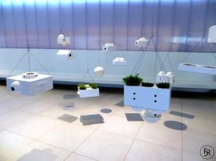 Modern hanging garden at Expo 2015 in Milano