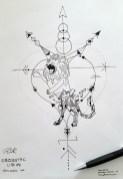 Geometric Lion - Paper & Pencil