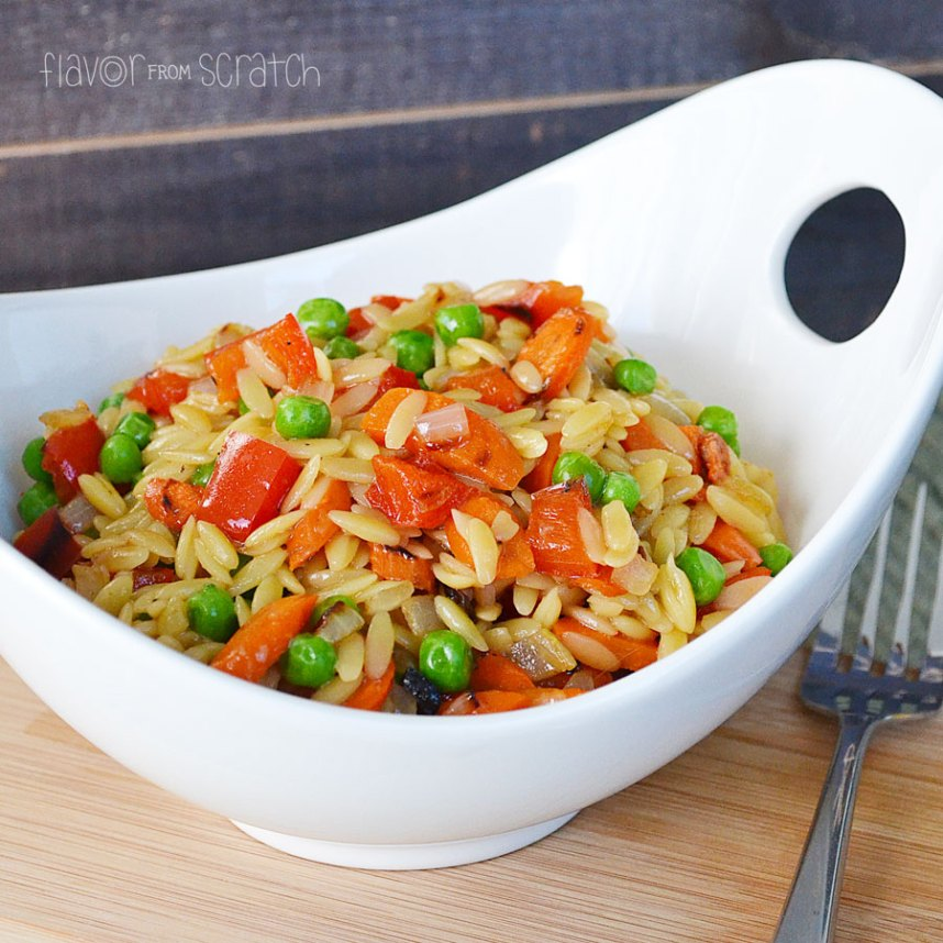 Roasted Vegetable Asian Orzo