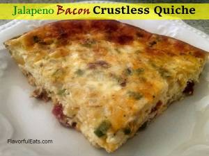 Jalapeno Bacon Crustless Quiche