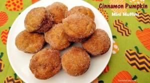 Cinnamon Pumpkin Mini Muffins