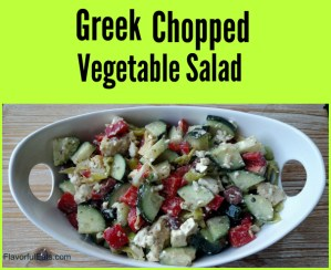 Greek Chopped Vegetable Salad