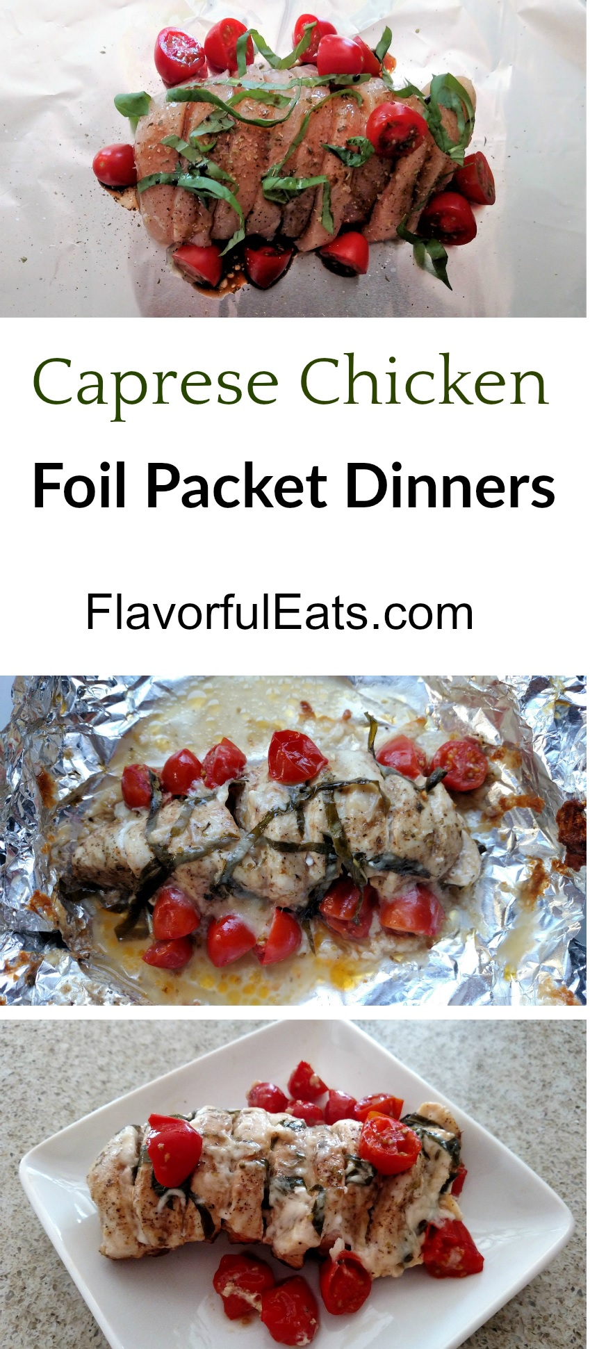 Caprese Chicken Foil Packet Dinners