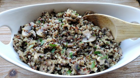Mushroom Garlic Quinoa