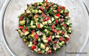 Middle Eastern Salad Shirazi