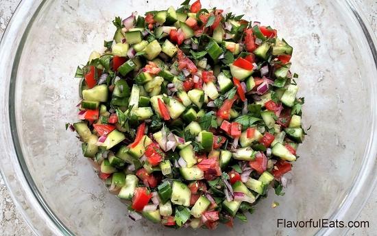 Middle Eastern Salad Shirazi