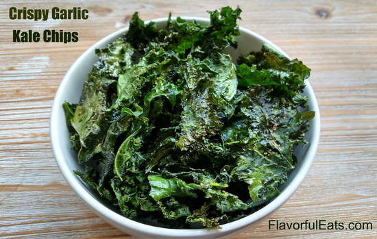 Crispy Garlic Kale Chips