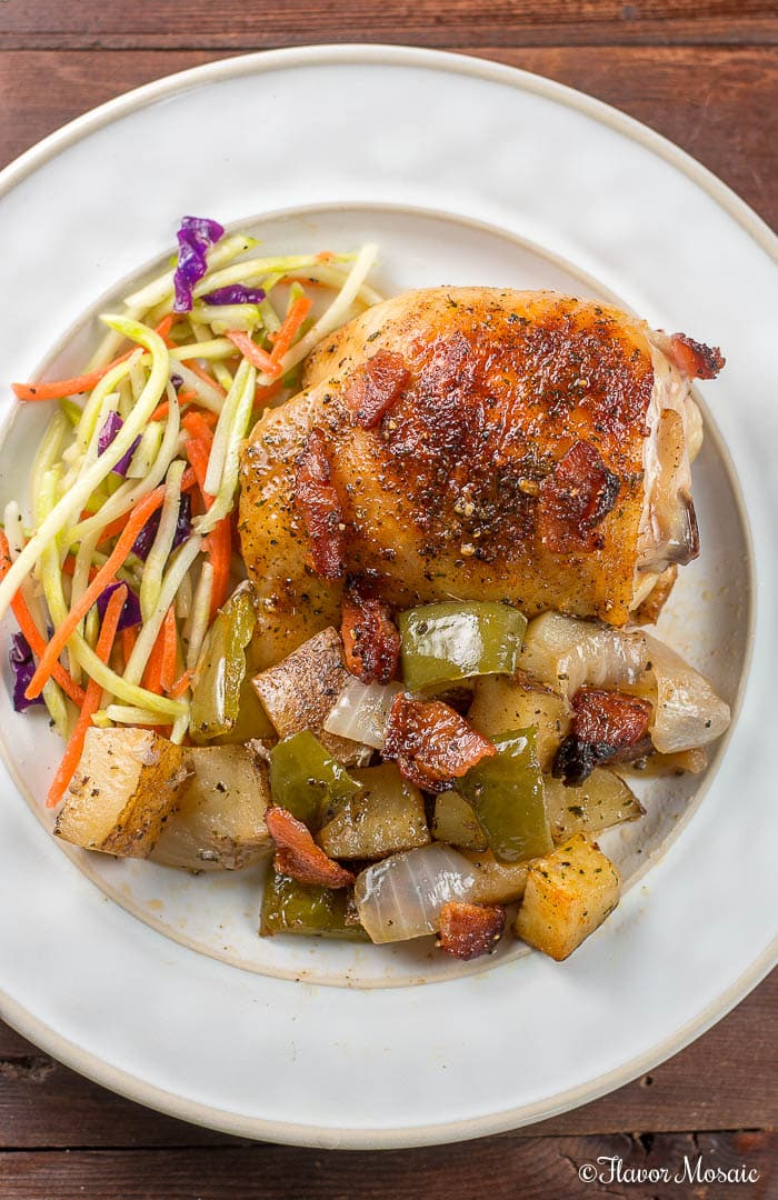 Spicy Baked Chicken Thighs and Ranch Potatoes