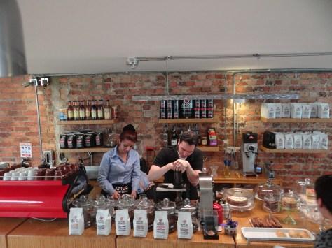 Amor Perfecto coffee house in Bogota