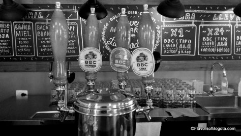 Bogota Beer Company on tap