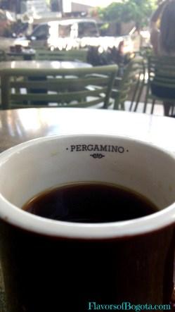 Black coffee at Pergamino, Medellin