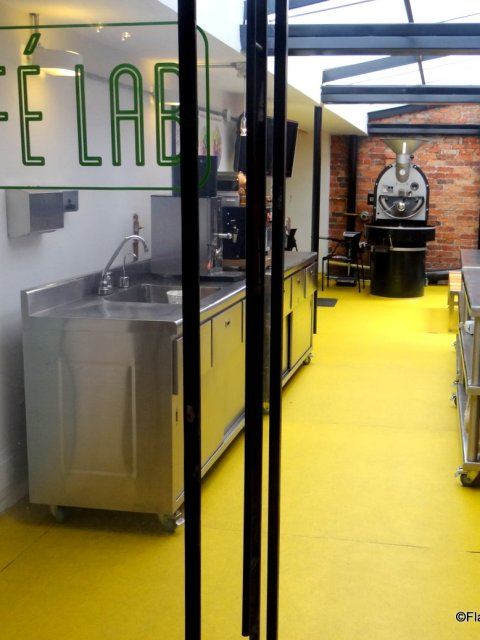 Coffee lab at Amor Perfecto, Bogota