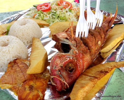 Fishy lunch on San Andres Island FlavorsofBogota