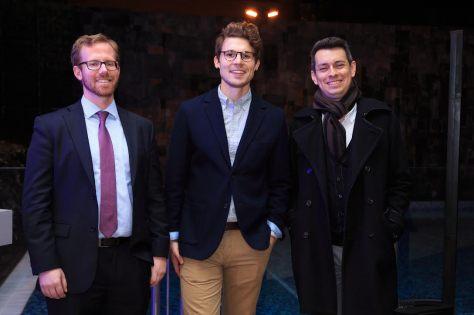 Robert Maron (representative of DISCUS), JP Fetherston (Mixologist) and Fabián Barrera (Lat One Group)