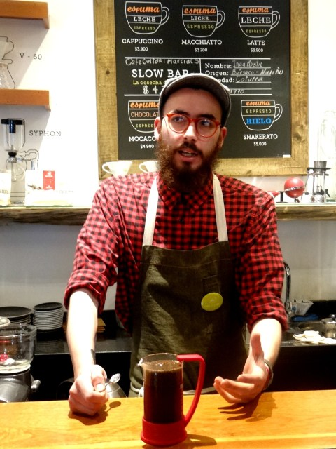 Manuel Torres barista Bogota