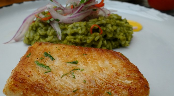 Fish with green rice La Grande