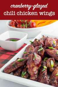 Cranberry Glazed Chil Chicken Wings title